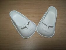 CHAUSSURES PLASTIQUE BLANCHES. POUPEE RAYNAL.BELLA GEGE COROLLE.....5,2CM/3CM..