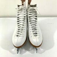 Riedell Figure Ice Skates Women's Size 9 White Lace Up 121 Boots Made In USA