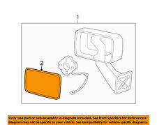 Hummer GM OEM 06-10 H3 Door Rear Side View-Mirror Glass Right 10376675