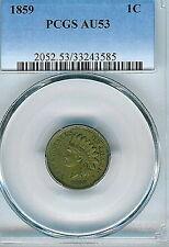 1859 Indian Cent : PCGS AU53