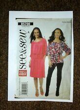 See & Sew Sewing Pattern 5700 UNCUT Drawstring Dress or Blouse XS-XL