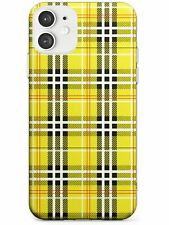 Designer Yellow Plaid Slim TPU Case for iPhone Fashion Patterns Checked Tartan