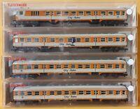 Fleischmann 8123, 8124, 2x 8125 DB City Bahn Nahverkehrswagen