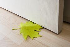 Door Stopper Qualy Autumn Green Maple Leaf Plastic Doorstop Holder Floor Wedge