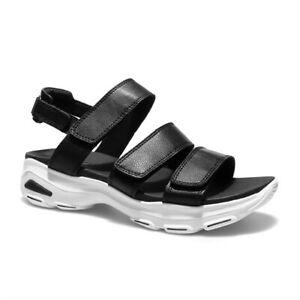 Skechers D'Lites Ultra Sandalo Donna a Strappo Memory Foam Sportivo Casual Nero