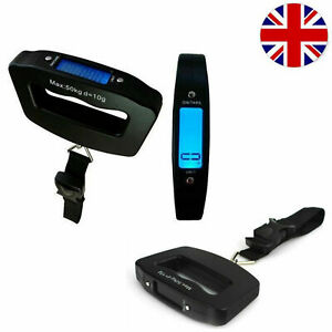 50KG Digital Travel Portable Handheld Weighing Luggage Scale with Hook or Belt