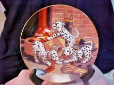 "Hamilton Collection Jim Lamb ""Where's the Fire?"" Dalmatian Puppies"