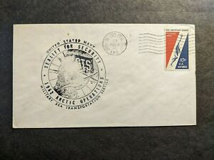 APO 23 THULE, GREENLAND 1962 Air Force Postal History Cover MSTS Naval Cachet
