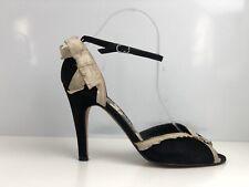 White House Black Market Women's Black Suede Sandals UK Size 6.5