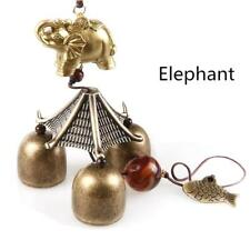 Elephant Garden Hanging Decor Gift Tube Bells Copper Wind Chimes Home Yard