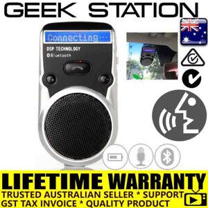 Wireless Bluetooth Hands Free Speaker Car Kit Sun Visor mount solar powered