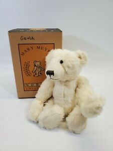 """LM VINTAGE Mary Meyer 14"""" White Mohair Jointed Pellet """"Gerald"""" Teddy Bear NEW"""