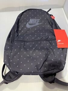 Nike Heritage Blue Gray Dotted Swoosh Logo Lap-Top Storage Backpack