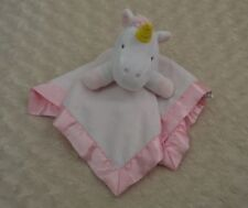 Target Limited Edition Unicorn Lovey Security Blanket Pink White Silky Satin