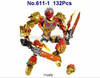 NEW Sealed BIONICLE Tahu Uniter Of Fire Building Toy For Kids 132/Pcs