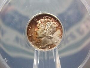 """1941 """"P"""" Mercury Silver Dime 10c ANACS MS66 East Coast Coin & Collectables, Inc."""