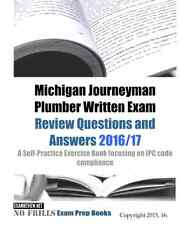 Michigan Journeyman Plumber Written Exam Test Questions Answers Study Guide Book