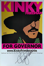 Kinky Friedman For Governor 2006 Poster - Signed