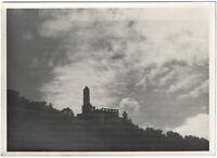 Burgruine, Original Silbergelatine-Foto um 1940