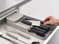 Joseph Joseph Drawer Store Compact Knife Organiser Kitchen Utensil GREY