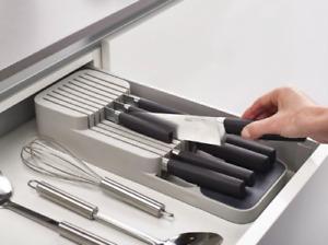 Joseph Joseph Drawer Store Compact Knife Organiser Kitchen Utensil GREY