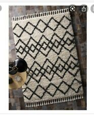 Origins Morocco Luxury Shaggy Fringed Berber Inspired Rug Cream 3 Sizes