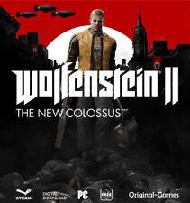 Wolfenstein II 2 The New Colossus Steam key Digital Download Code PC Region Free