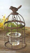 Birdcage Candle Holder Votive Candle Holder Primitive Rustic WEDDING Bird Cage