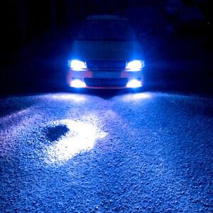 COB LED Kit 72W 9003 HB2 H4 10000K Blue Dual Bulbs Head Light High Low Beam