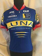 "SUGOI Cycling Bike Jersey ""Luna Bar"" Blue Breast Cancer Fund 3/4 Zip Mens Small"