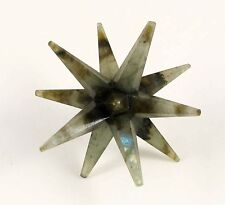 LARGE 12 Point LABRADORITE Merkaba Star Crystal Chakra Healing 75 mm