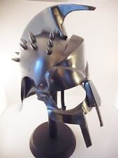 Roman Wearable Gladiator Maximus spiked Helmet Stainless Steel w/Stand & Liner