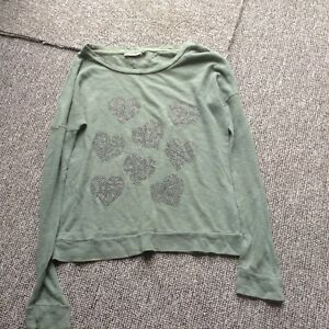 Heart patterned top size s