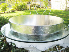 """16 inch or 18 inch Cake Stand """"Silver Leaf and Vine"""" Wedding Cake Stand, Riser"""