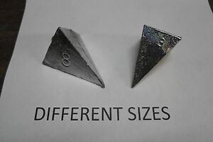 3 SIDED PYRAMID SINKER MANY SIZES AND QUAN TO CHOOSE FROM