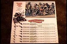WEREWOLVES ON WHEELS 1971  11X14 LOBBY CARD SET BIKER HORROR CULT