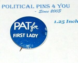 1968 PAT NIXON FIRST LADY richard campaign pin pinback button political election