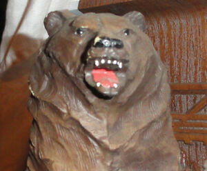 RARE Vintage 1970's OLYMPIA BEER Sign GRIZZLY BEAR 3D Mount Wildlife Series OLD!