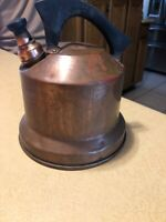 Vintage Simplex Whistling Tea Kettle Solid Copper  Nice