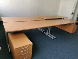 Schreibtisch 200X80 STEELCASE in Buche - höhenverstellbar