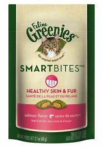Feline Greenies Smartbites Healthy Skin & Fur   Salmon Flavor 2.1oz - Pack of 6