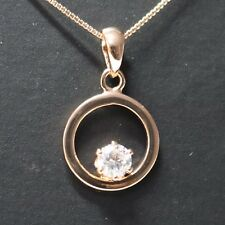 .5 Ct Round Moissanite Pendant Necklace Women Wedding Engagement Jewelry Gift