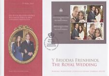 Gb Stamps First Day Cover 2011 Royal Wedding Mini Sheet Royal Mail Souvenir