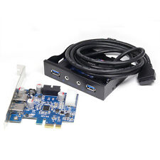 "2-Port USB 3.0 & HD Audio 3.5"" Front Panel + PCI-E Express USB3.0 Expansion Card"