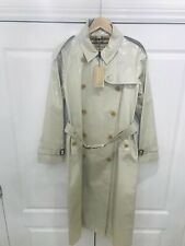 BNWT burberry patent mac classic heritage stone trench coat uk12/us 10/euro 44