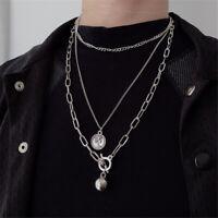 Hip Hop Silber Gold Anhänger für Münzen Metal Ball Kette Halskette Punk Choker