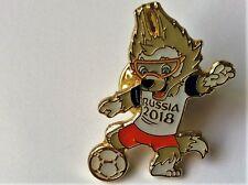 WORLD CUP 2018 MASCOT PIN BADGE RUSSIA FOOTBALL SOCCER ZABIVAKA