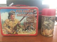 VINTAGE 1965 FESS PARKER DANIEL BOONE SHOW LUNCHBOX W/ THERMOS NICE!