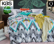 KAS Baxter Queen Bed Reversible Quilt Cover Set - Multi