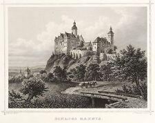 RANIS - BURG RANIS - Rohbock & Koehler - Stahlstich 1857